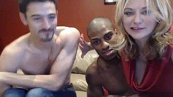 Hot blonde cuckold interracial BBC threesome fuck