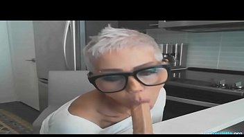 Big Tits Horny MILF Masturbates In Kitchen