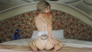 Cute Teen Webcam Lingerie Babe Strips And Finger Fucks Her Pussy