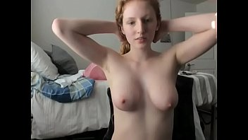 Busty Live Redhead Sex Show Solo Masturbation