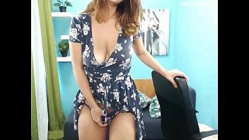 Naughty Big Boobs Amateur Cougar Striptease Sex Show