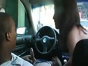 Amateur Interracial Latina Rides BBC In A Car